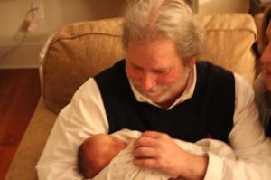 Boz happily welcomed his great-nephew Sam before Christmas last year.