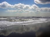 Emerald Isle beach sky reflection