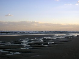 Emerald Isle-beach at dusk