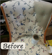 bird bee chair before
