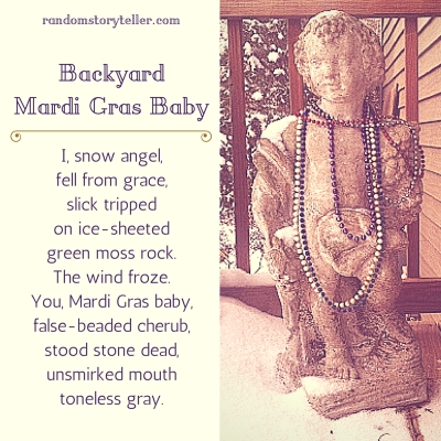 poem-text-and-image-of-stone-cherub-draped-with-Mardi-Gras-beads