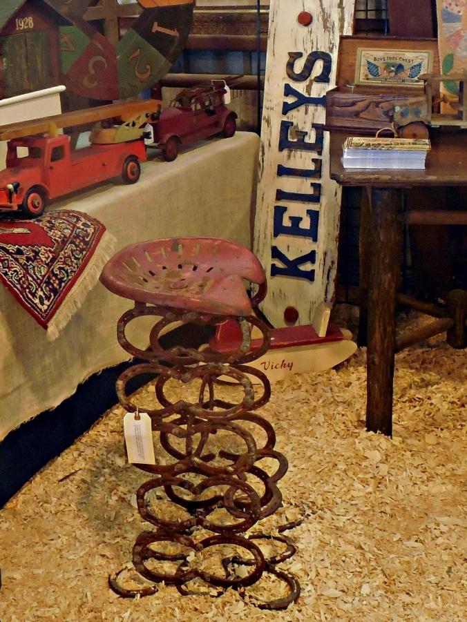 broken tractor seat fleamarket