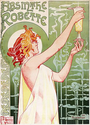 Art-Nouveau-poster-Absinthe-Robette-by-Henri-Privat-Livemont