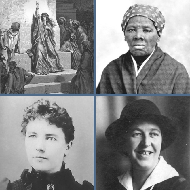 Debrorah-Harriet Tubman-Laura Ingalls Wilder-Corrie ten Boom-public domain images in U.S.