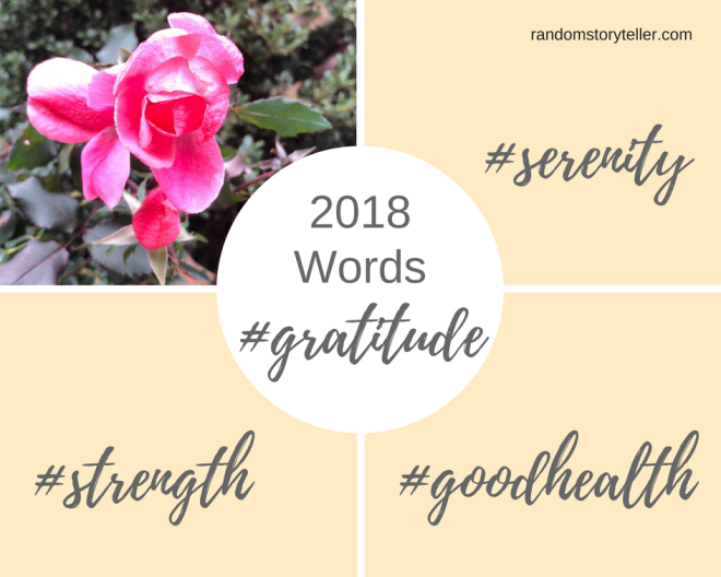2018 New Year Words to Live By_randomstoryteller_chamrickwriter with image of bright pink rose