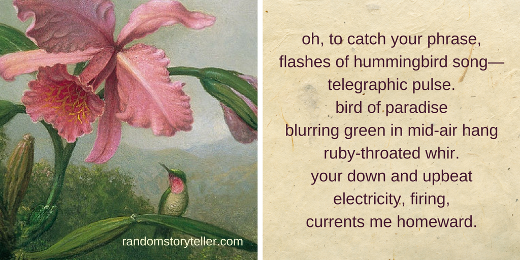 quote from the poem Ascension by randomstoryteller chamrickwriter featuring painting of hummingbird