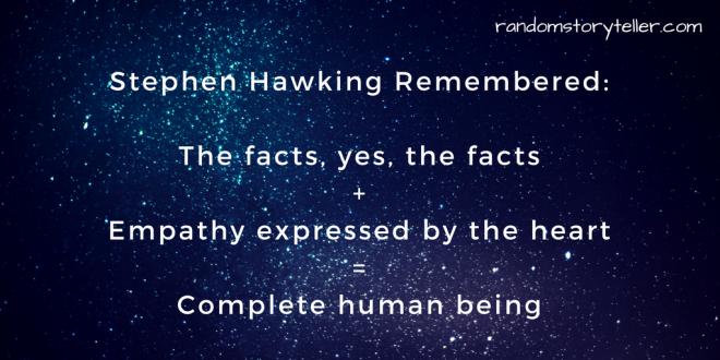 Stephen Hawking_complete human being_randomstoryteller with image of stars in background